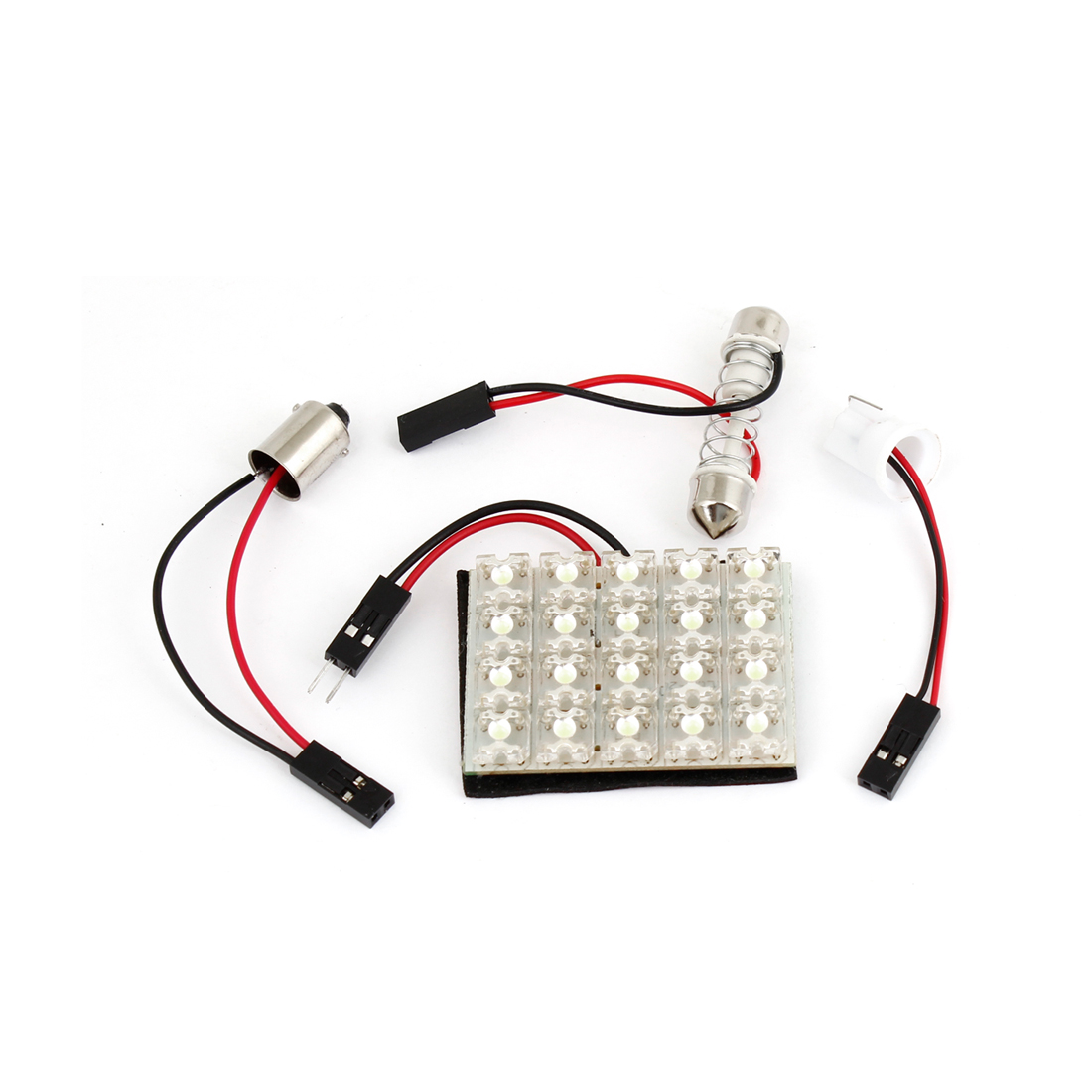 Auto Car White 20 LED Bulb Dome Lamp Panel w T10 Festoon BA9S Adapter