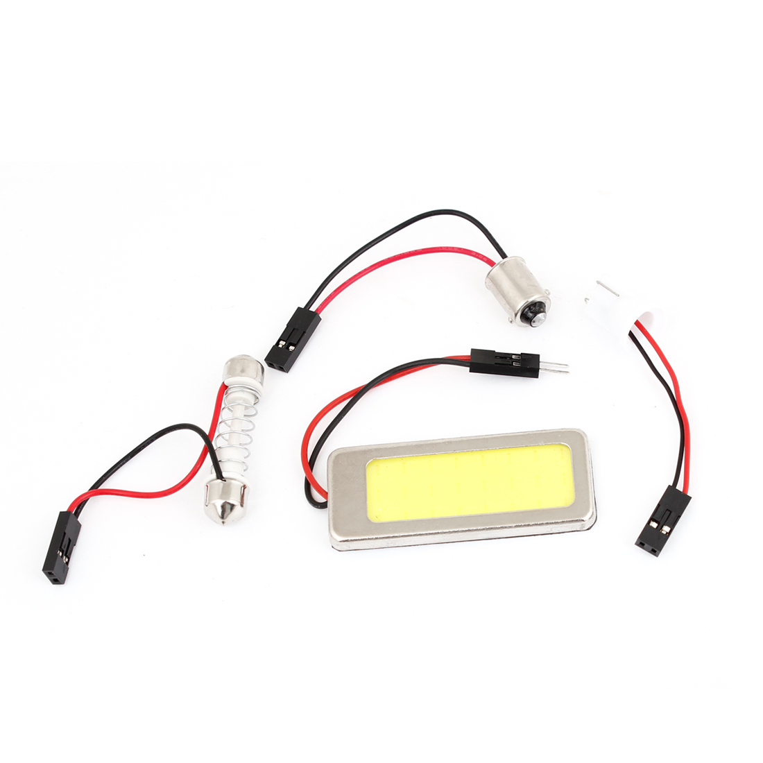 Vehicle White COB 36 LED Dome Roof Lamp Light Bulb + T10 Festoon BA9S Adapter