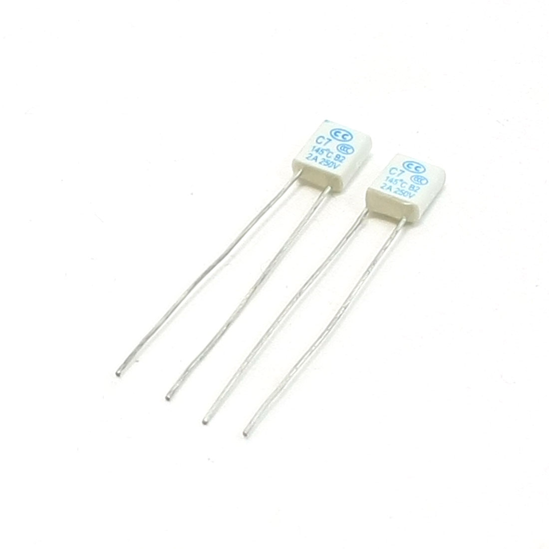 2pcs 8 x 6 x 2.5mm Square Micro Fan Fuse 250V 2A 145 Degree Celsius