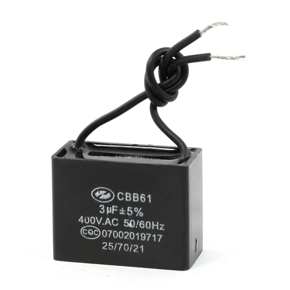 Non Polar Wired 50/60Hz CBB61 Type Motor Running Capacitor 3uF AC 400V