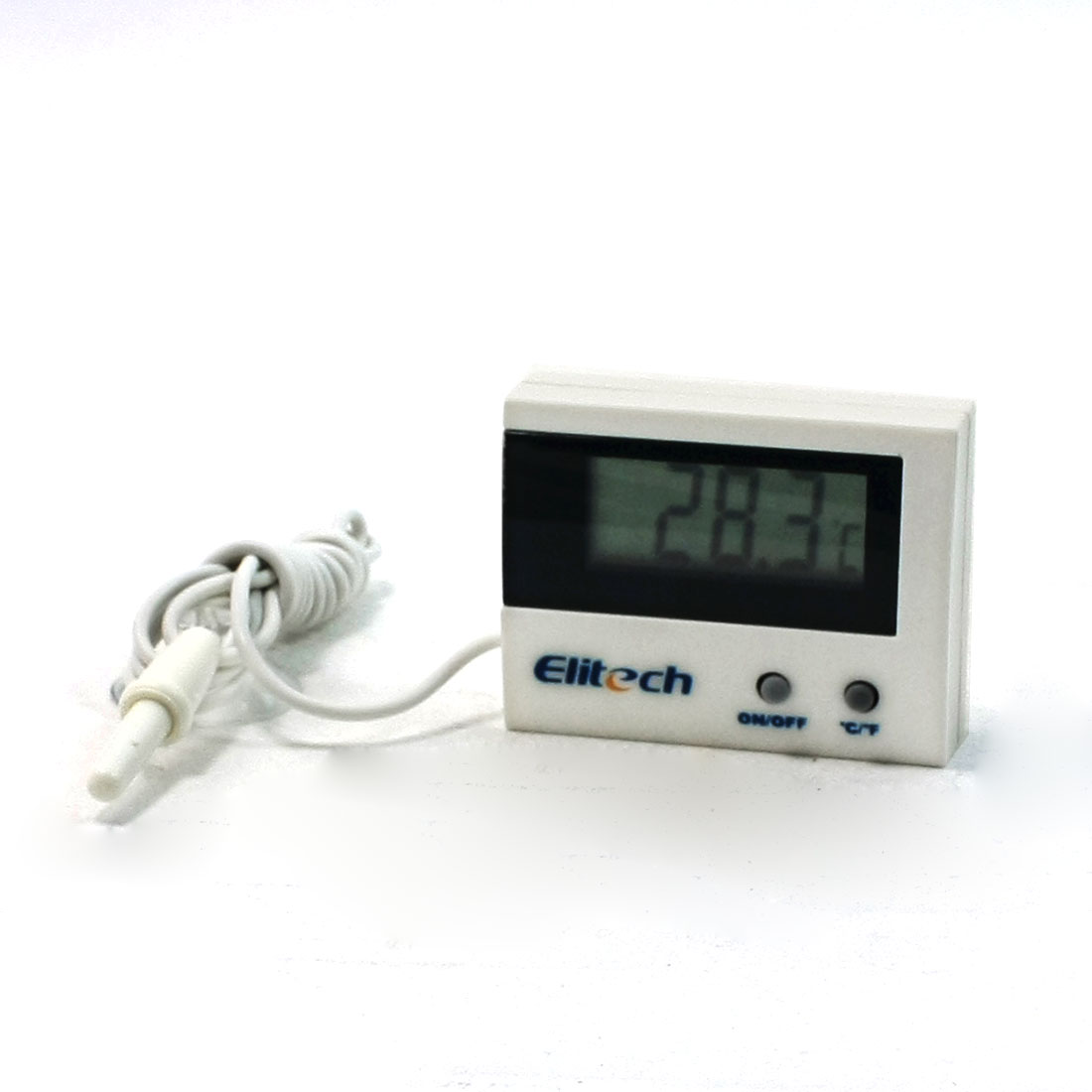 Termperature Probe LCD Display Digital Thermometer w 3.3Ft Long Cable