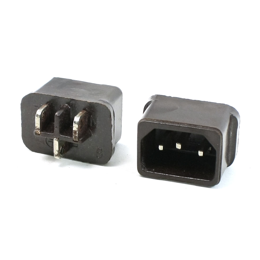 2pcs C14 Plug Power Adapter Connector for Electric Cookers 250V 10A Black