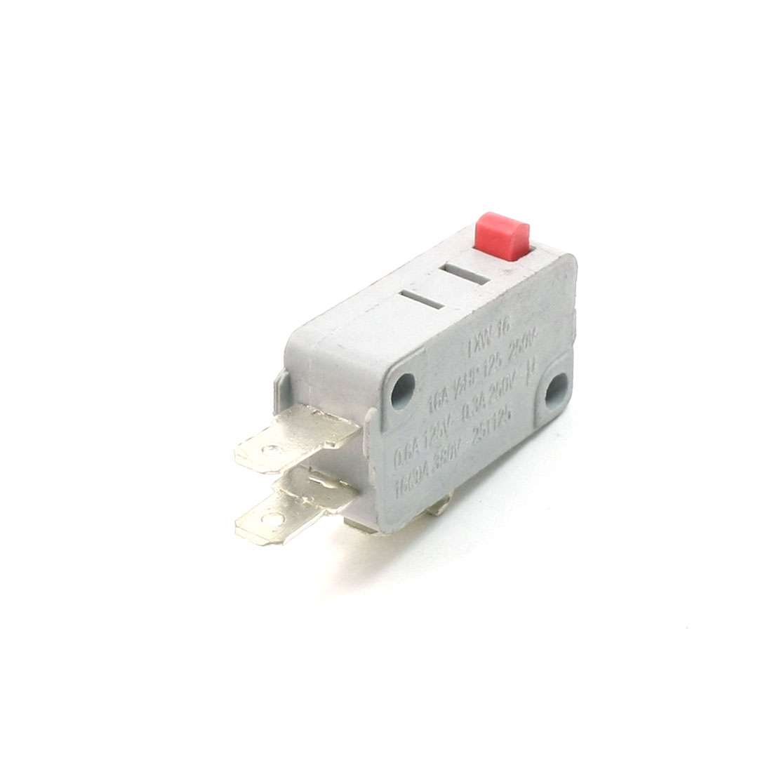 SPDT 3 Terminals Red Momentary Push Button Micro Limit Switch 125/250VAC 16A