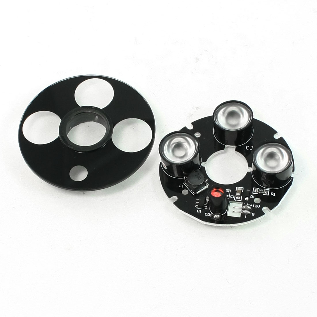 CCTV CCD Camera 80 Degree Red 14mm 3-LED Infrared Bulb IR Board Plate