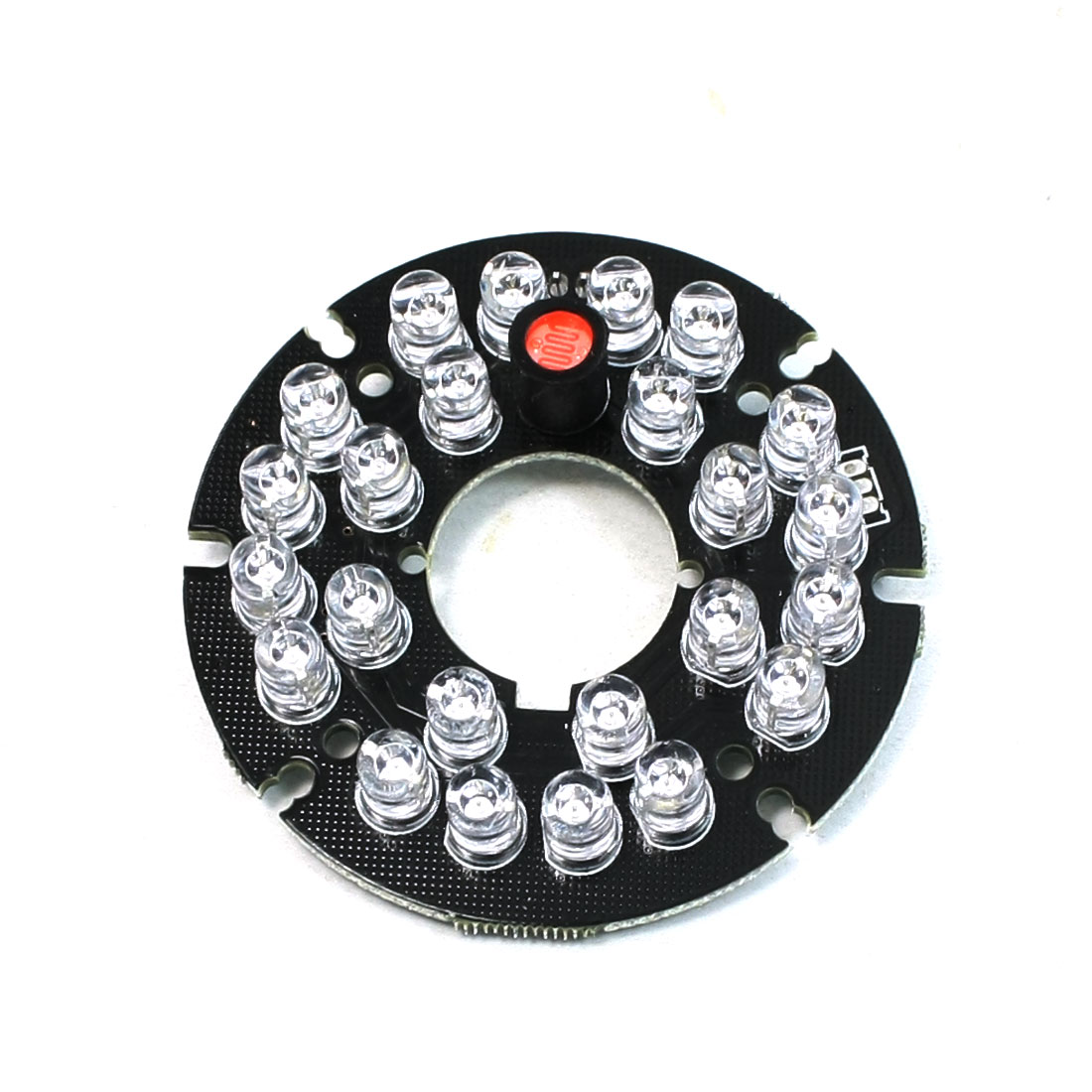 Security Camera 30 Degree Red 8mm 24-LED Infrared IR Board Plate