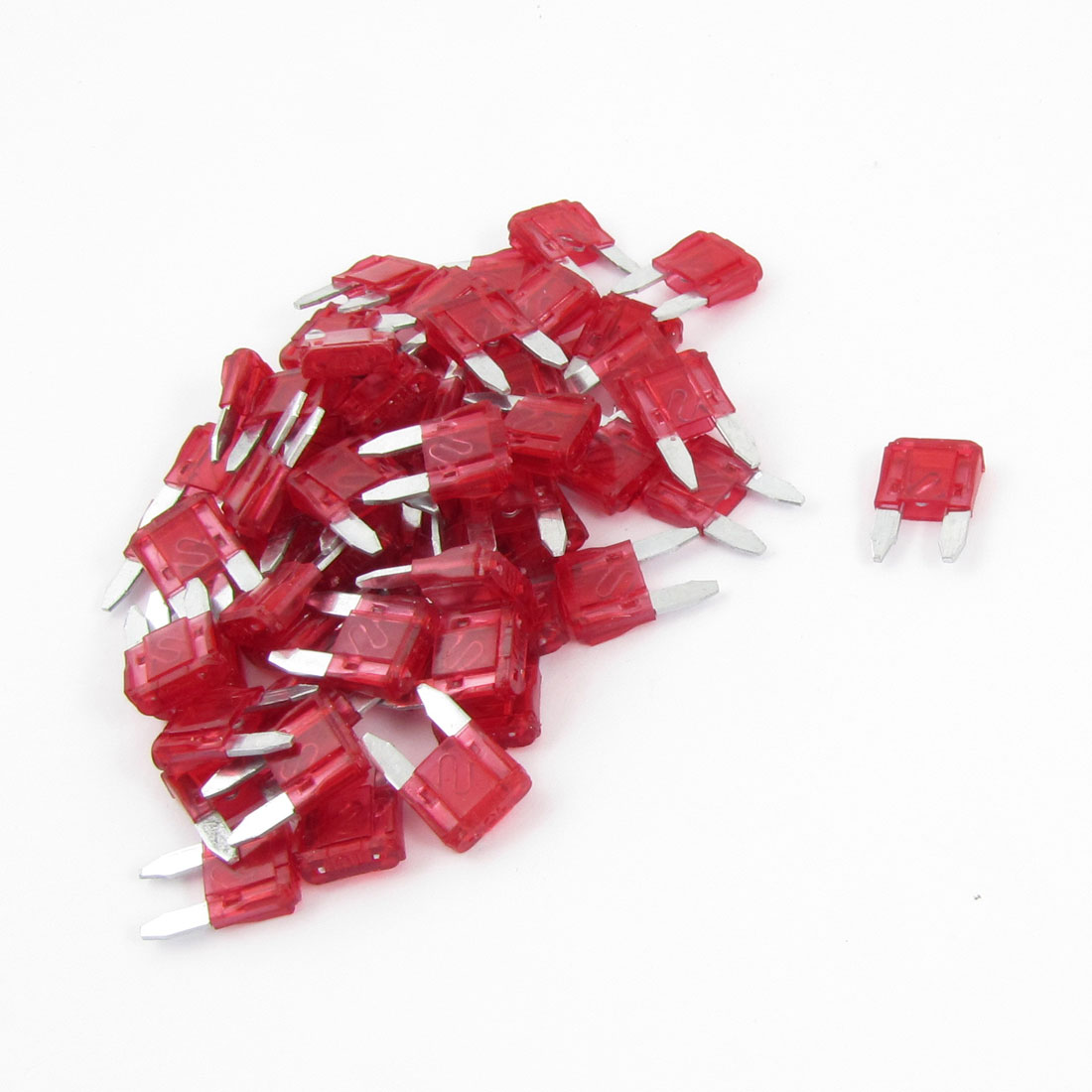 60PCS 10A 10A Automotive Mini Blade Fuses Red for Car