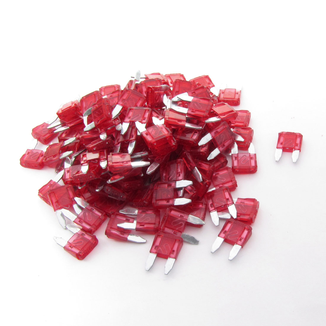 120 Pcs 10A Small Size Blade Fuses Red for Vehicle Car Auto Stereo