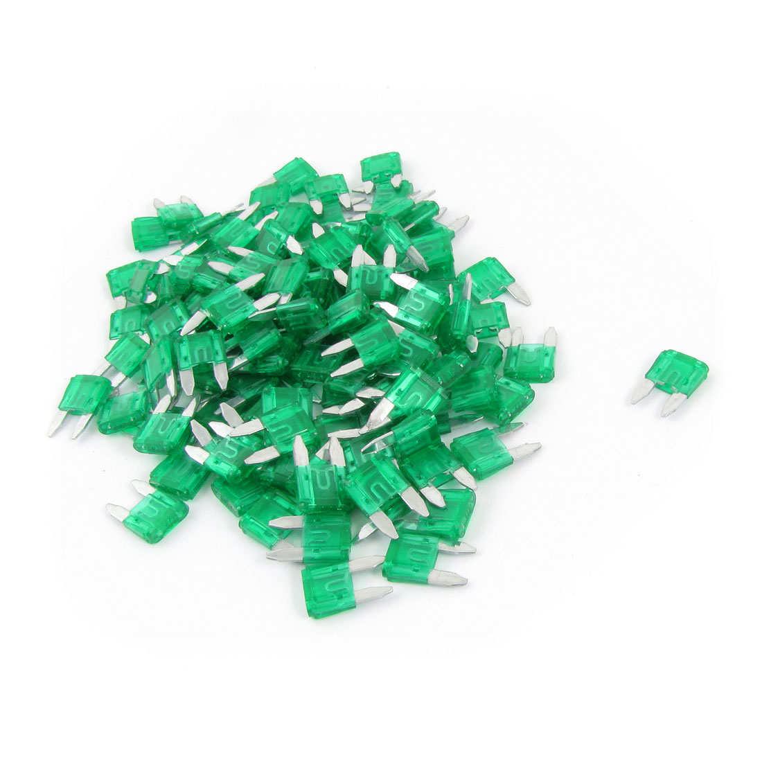 120 Pcs 30A Mini Blade Fuses Green for Vehicle Car Auto Stereo