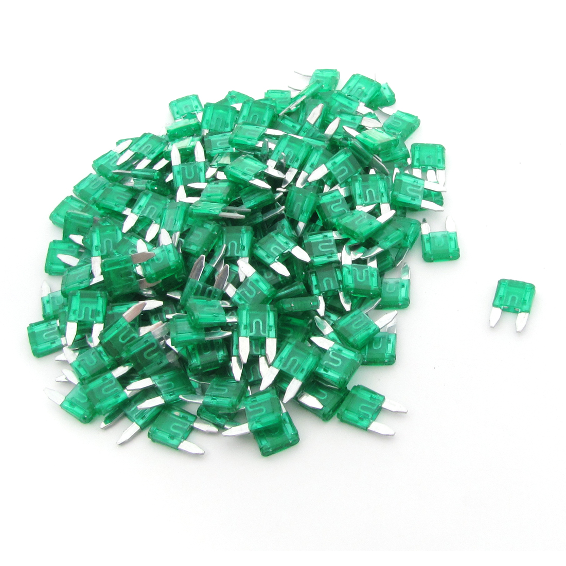 200 Pcs Automotive Car Boat Truck 30A Small Size Blade Fuse Green