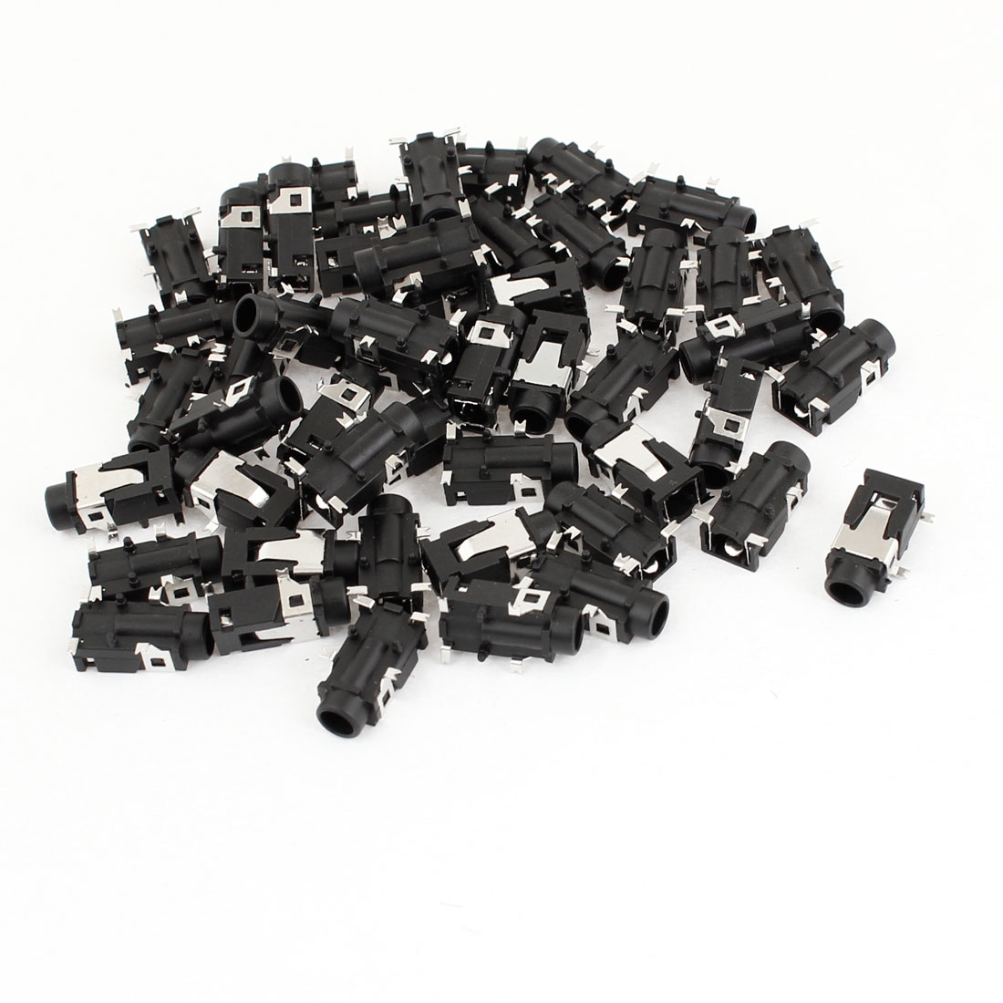 50 Pcs 4 Pin 3.5mm Headphone Stereo Jack PCB Panel Mount Connector