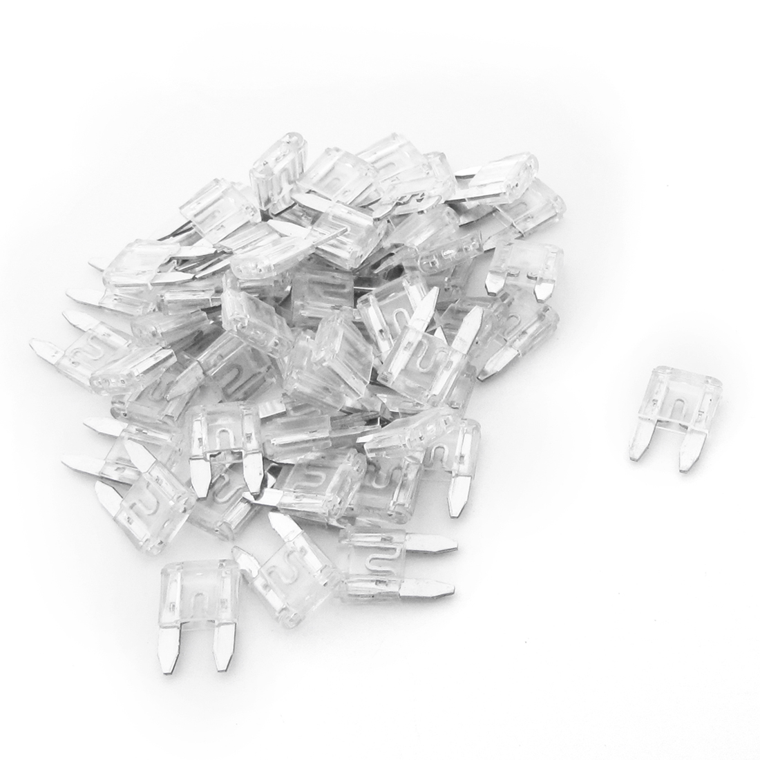 60PCS 25A Clear Mini Fast Acting Car Blade Fuses