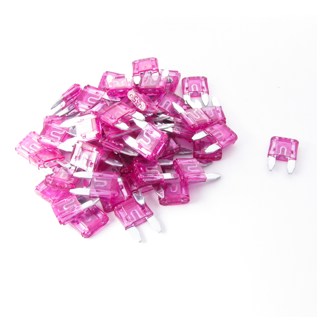 Car Auto 35A Blade ATC Fuses Assortment Kit Fuchsia 60 Pcs