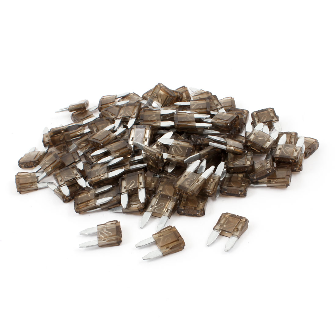 120pcs Coffee Color 7.5A Fast Acting 17mm Long Car Blade Fuses