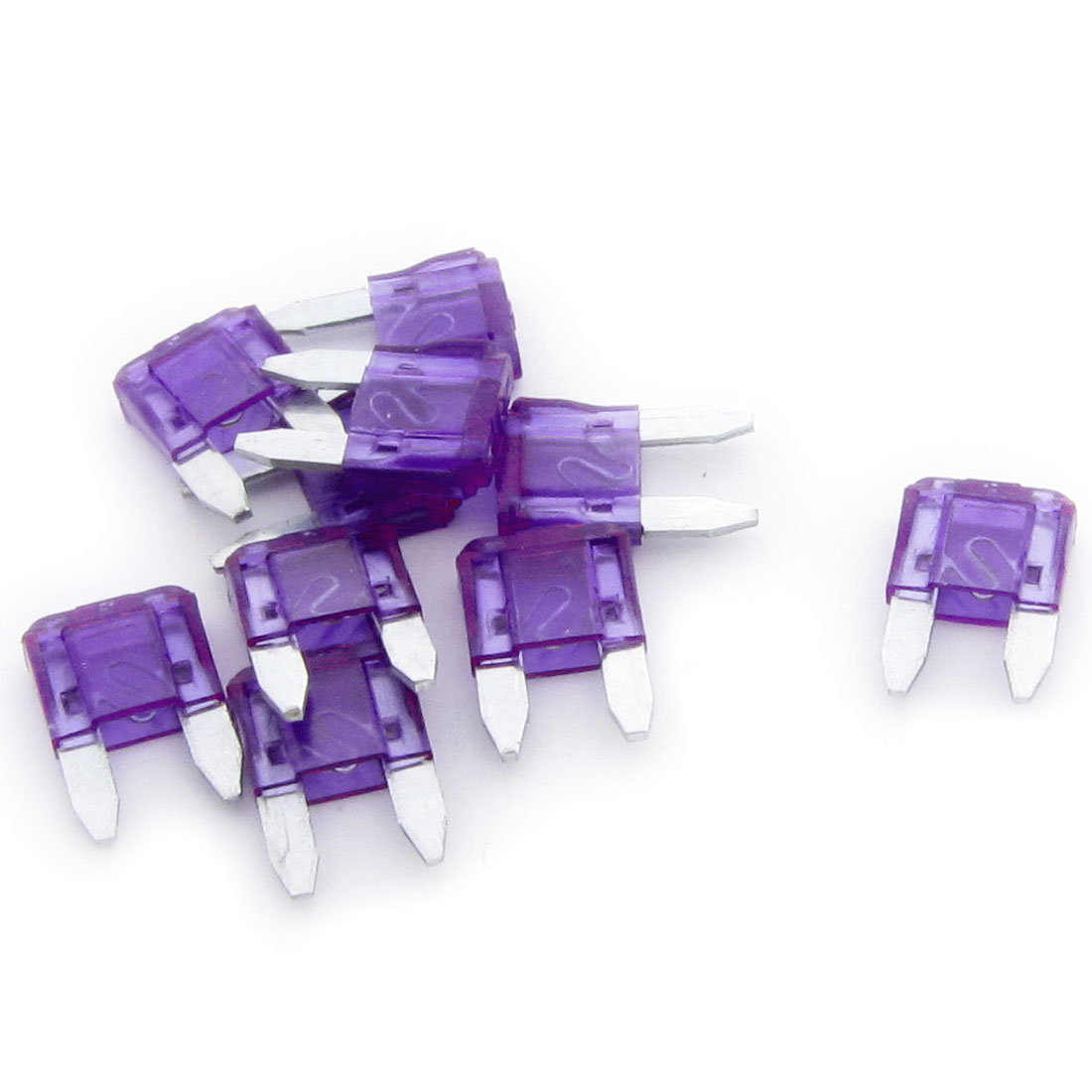10 Pcs Purple Plastic Housing 3A Vehicle Car Auto Blade Fuses