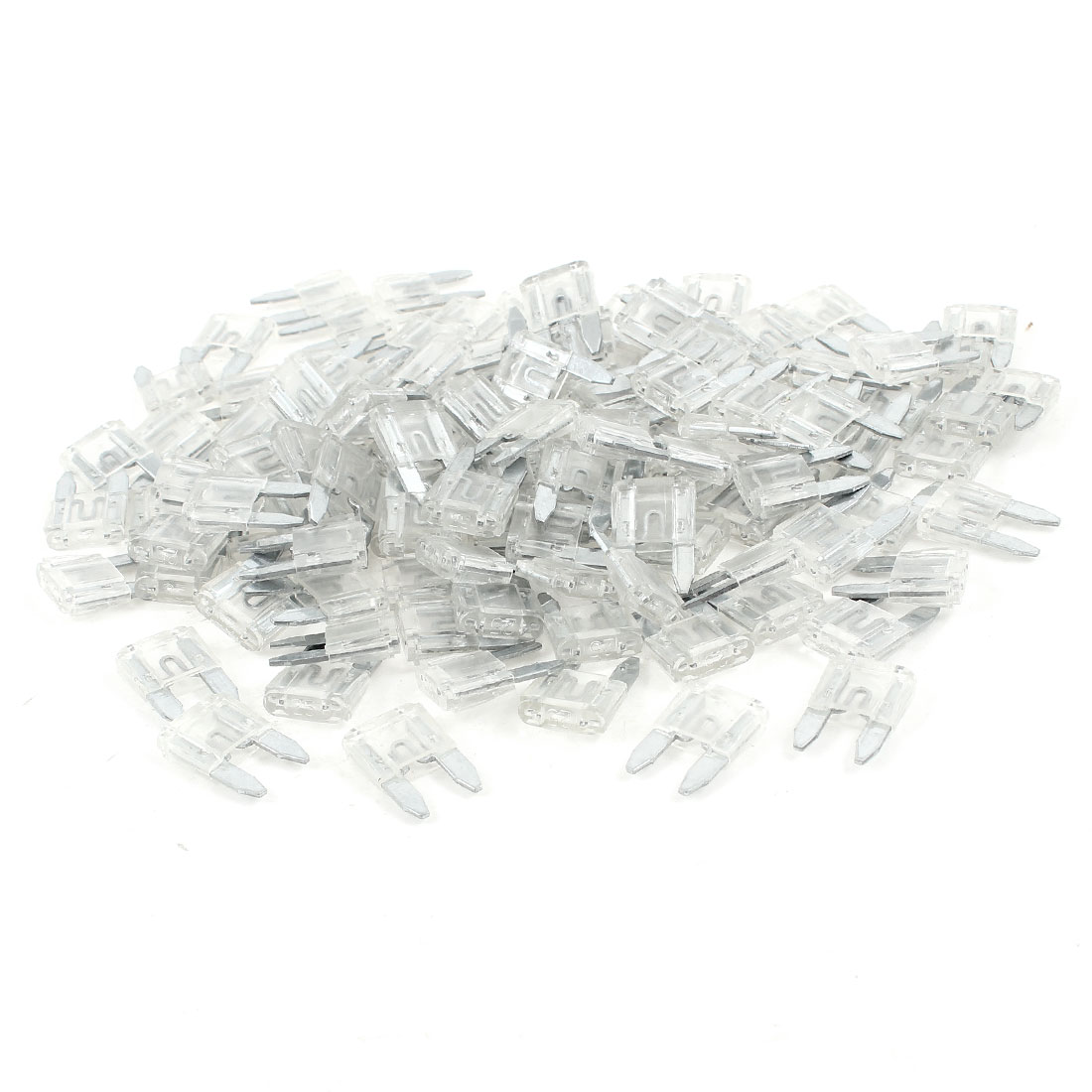 25A Car Truck Automotive Fast Acting Blade Fuse Clear 120 Pcs
