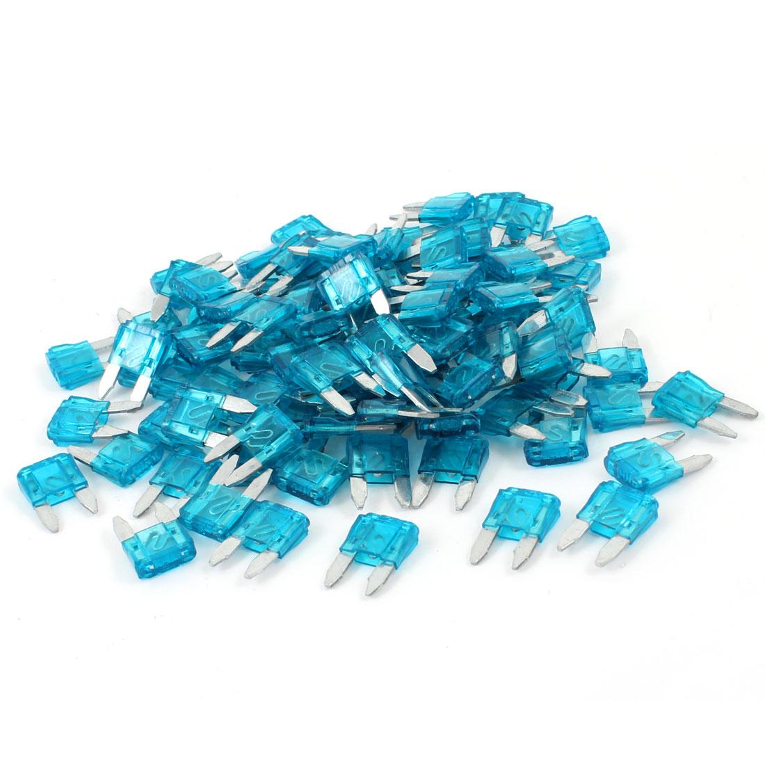 120 Pcs Plastic Housing 15A Vehicle Car Auto Blade Fuses Blue