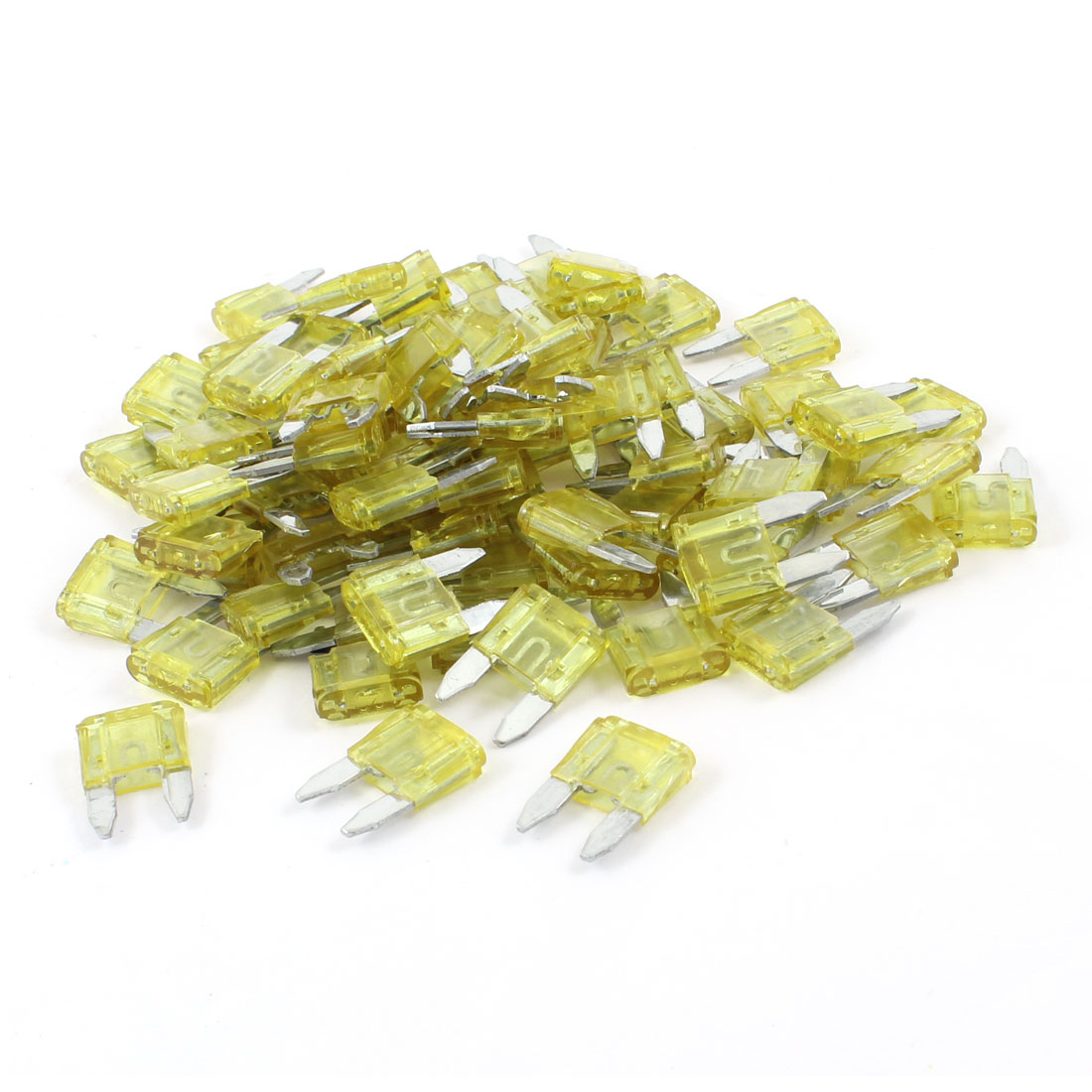 120 Pcs Automotive Car Boat Truck 20A Blade Fuse Yellow