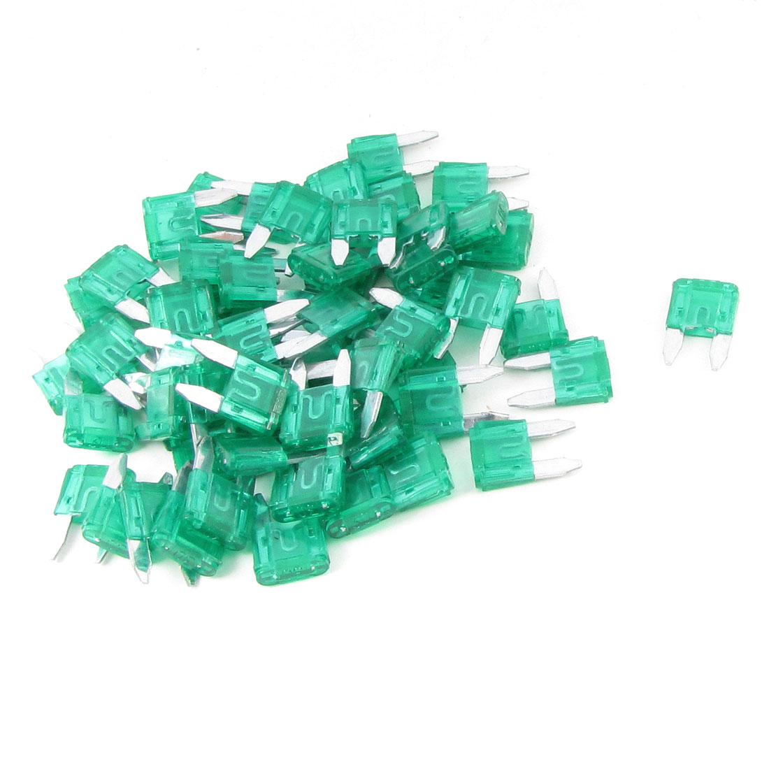 60PCS Green 30A Fast Acting 17mm Long Car Blade Fuses Fuse