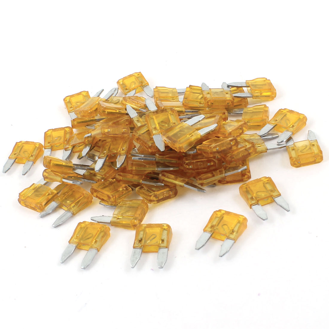 60 Pcs Plastic Housing 5A Vehicle Car Auto Blade Fuses Orange