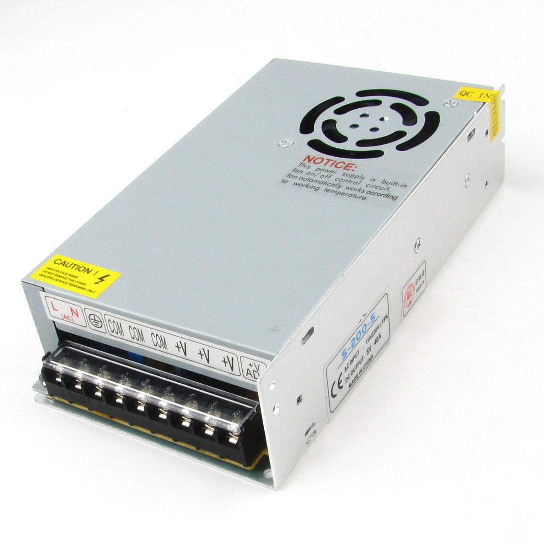 AC 110V/220V DC 5V 40A 200W Switching Power Supply Driver for LED Strip Light