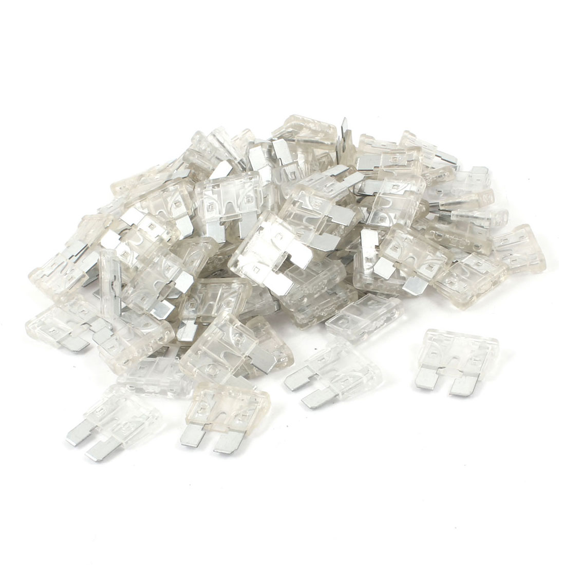 25A Car Truck Automotive Clear Fast Acting Blade Fuse 100 Pcs