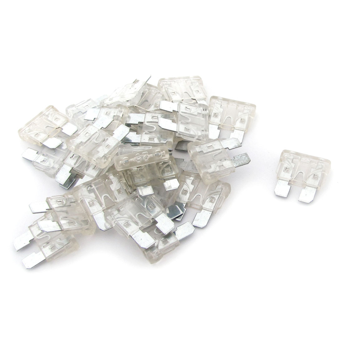 30PCS Clear Medium Car Bike Truck Blade Fuse 25A