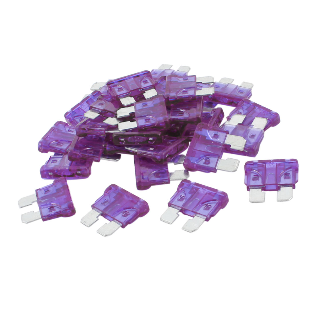 30pcs Clear Purple 3A Blade Fuses Set for Vehicle Car Auto
