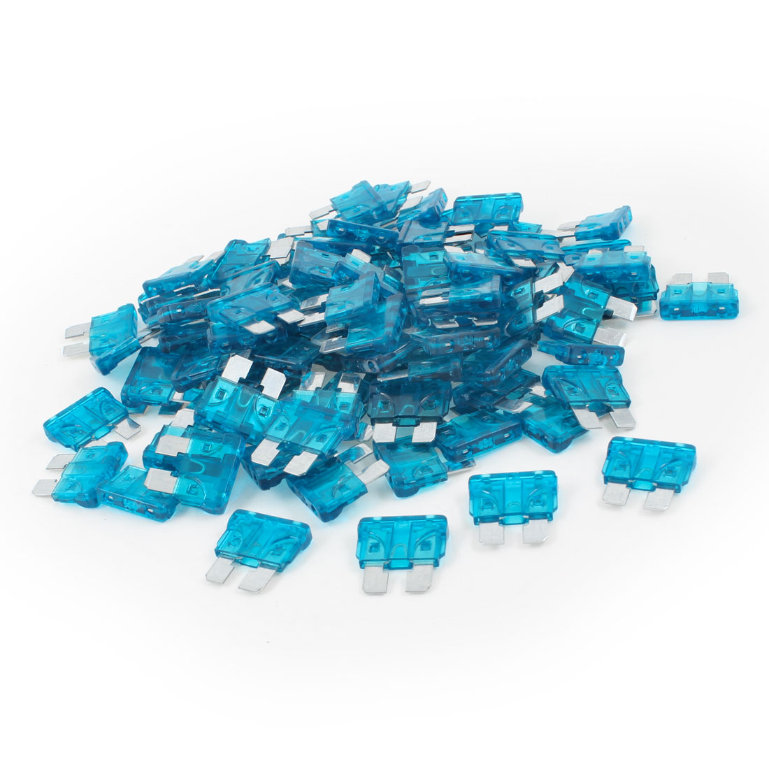 100PCS Blue Middle Car Blade Fuse 15A Assortment for Truck