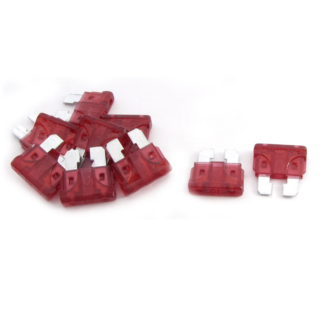10A Car Truck Automotive Fast Acting Mini Blade Fuse Red 11 Pcs