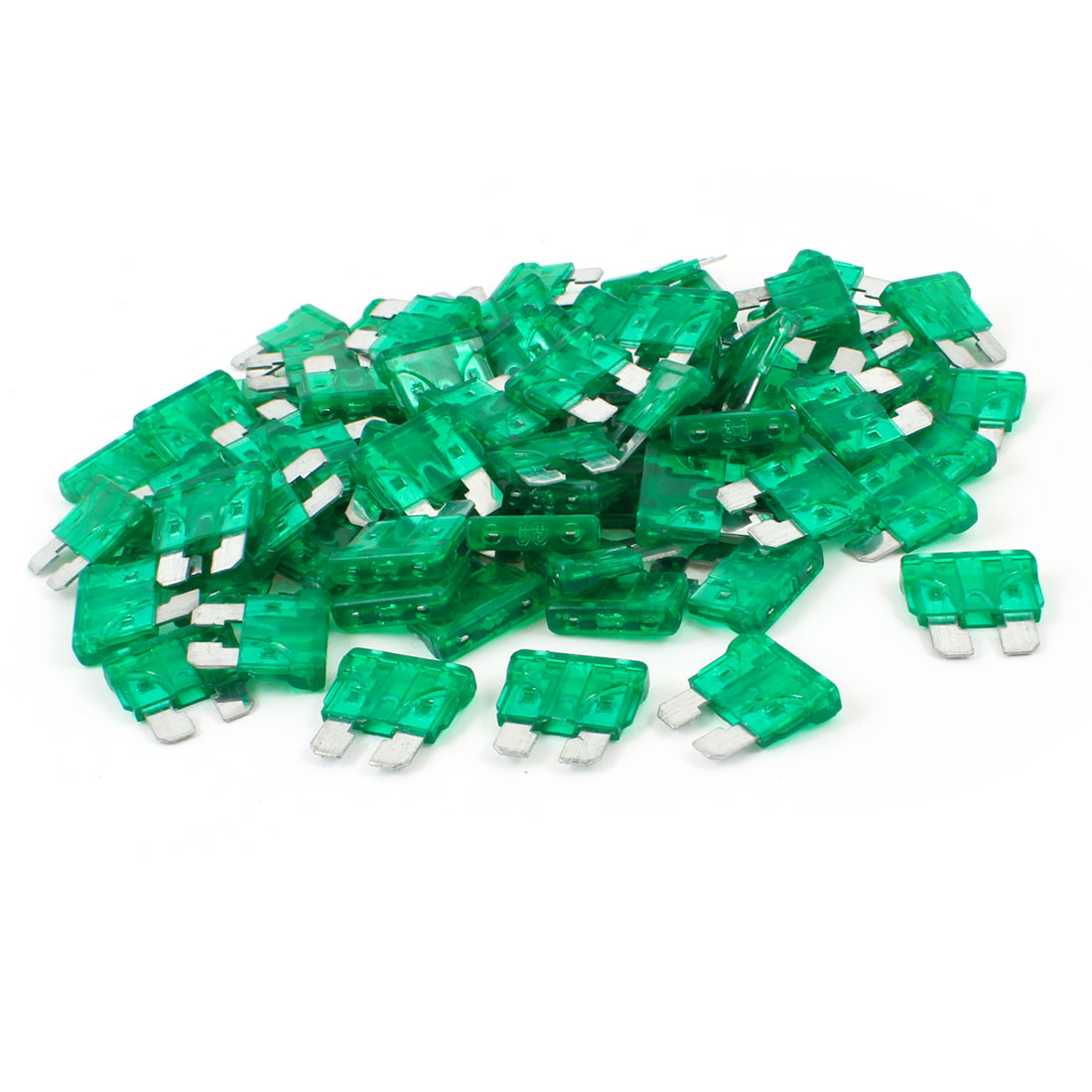 Vehicle Car 30A 30Amp Green Body Two Prong Blade ATC Fuse 100pcs