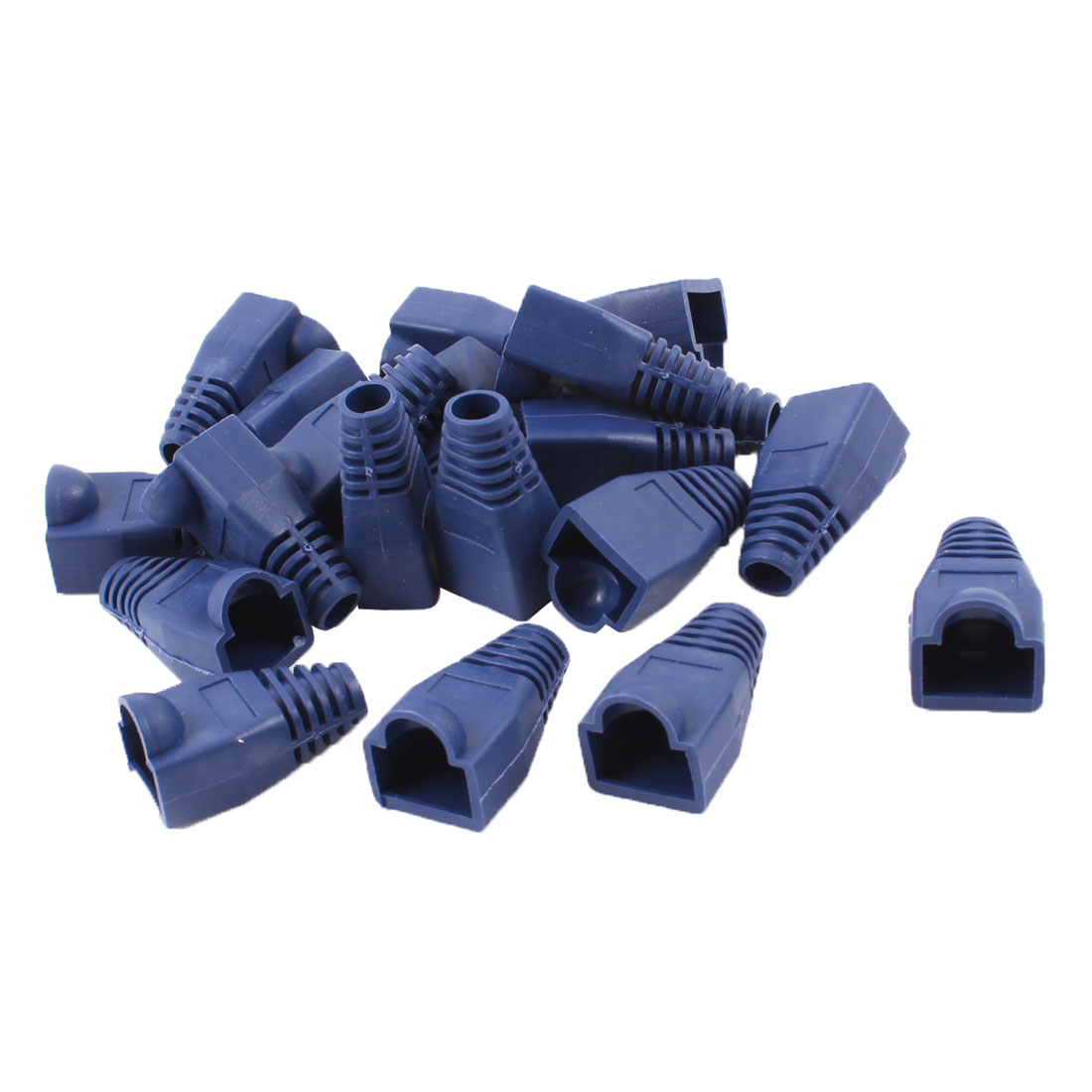 20 Pieces Blue Ethernet RJ45 Strain Replacement Cover Boots 2.6 x 1.4 x 1.4cm