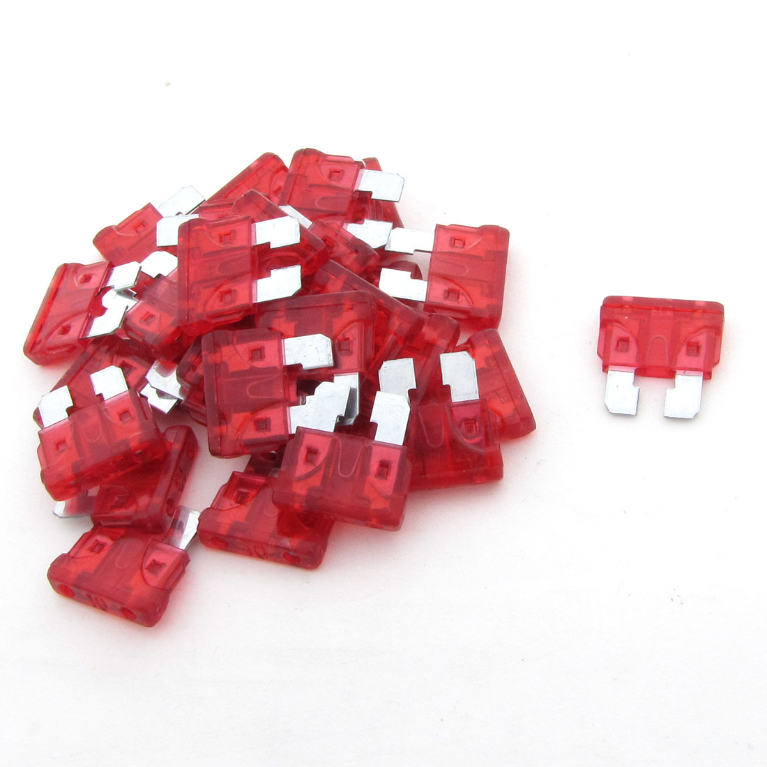 10A Car Truck Motorcycle Vehicle Auto Blade Fuse Red 30 Pcs