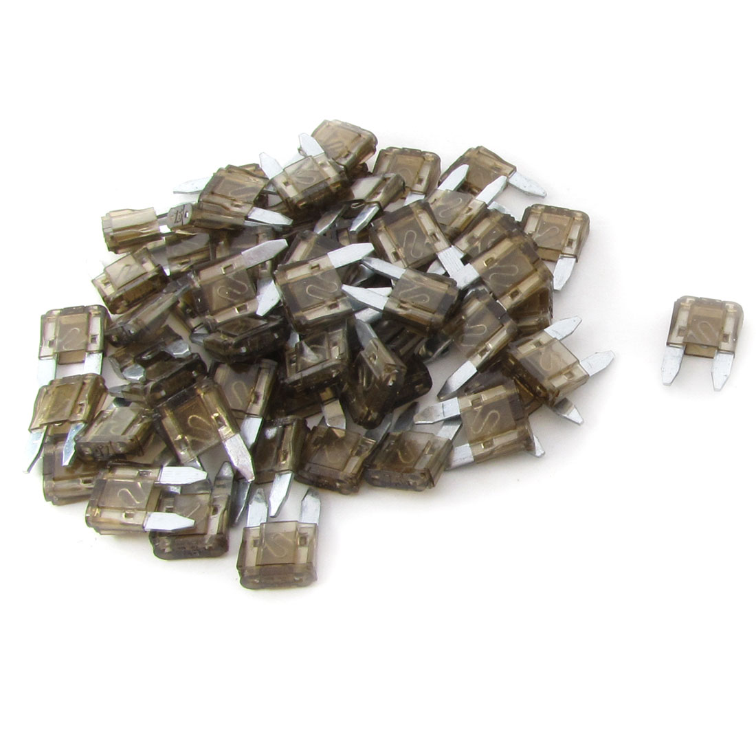 Automotive Car Small Size Blade Fuse 7.5A Coffee Color Auto Fuses 60 Pcs