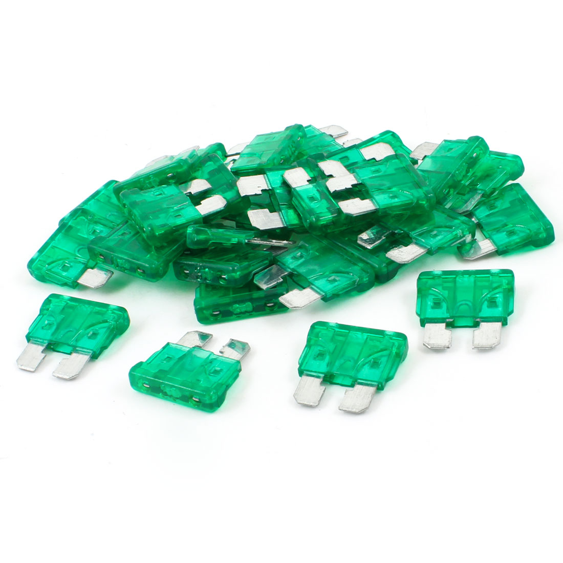Vehicle Car 30A 30Amp Green Body Two Prong Blade ATC Fuse 30pcs