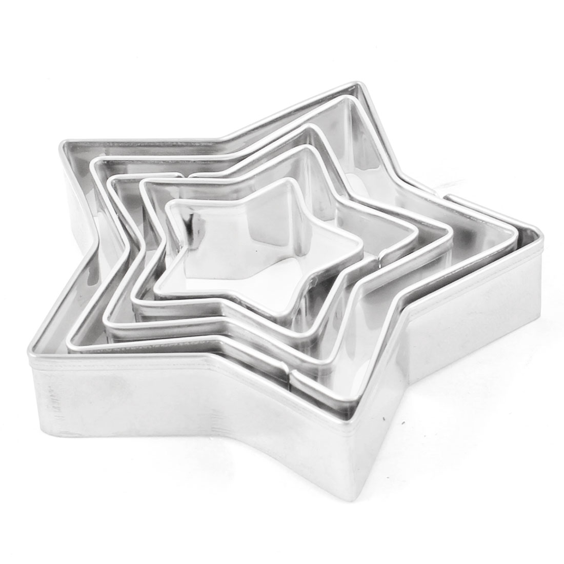 5 Pcs Stainless Steel Aluminum Alloy Star Cookie Cutter Cake Mould