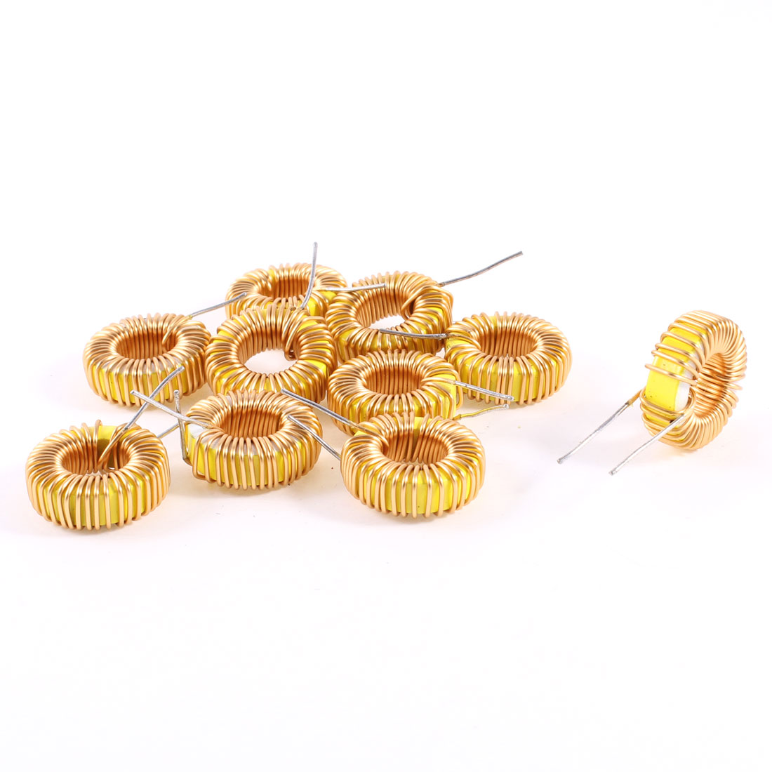 10 Pcs Toroid Core Inductor Wire Wind Wound 68uH 39mOhm 3A Coil
