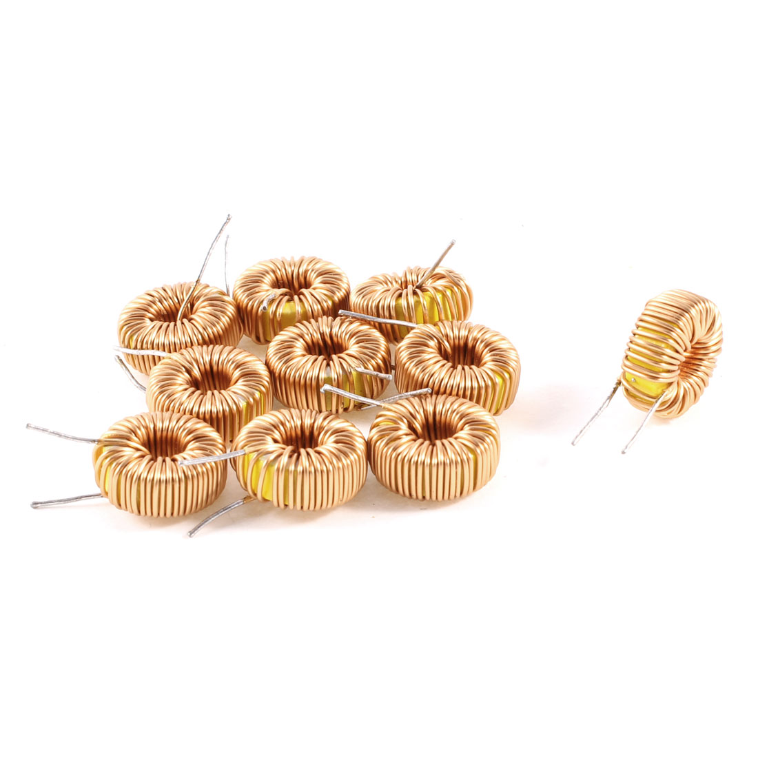 10 Pcs Toroid Core Inductor Wire Wind Wound 100uH 81mOhm 2A Coil