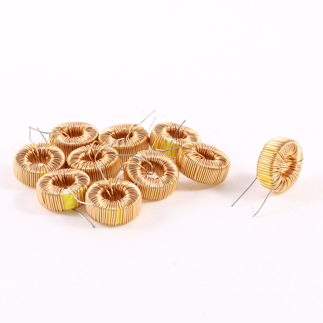 10 Pcs Toroid Core Inductor Wire Wind Wound 220uH 31mOhm 0.5A Coil