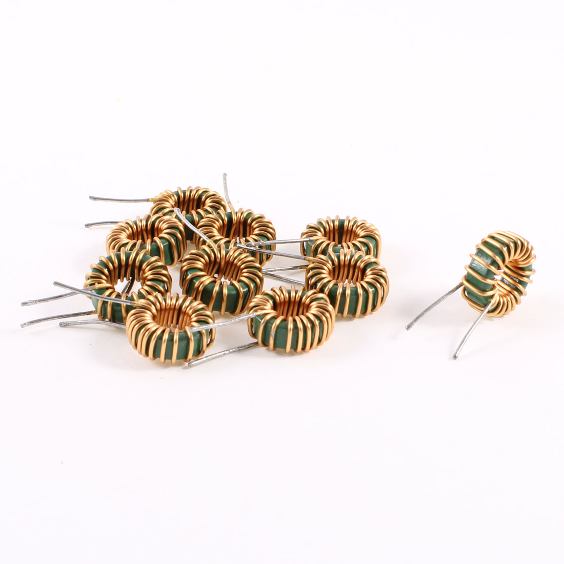 10 Pcs Toroid Core Inductor Wire Wind Wound 3MH 40mOhm 3A Coil