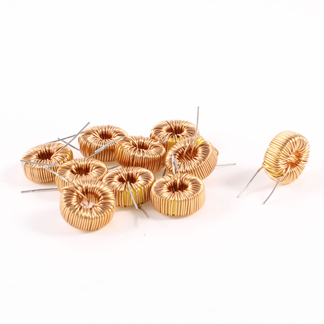 10 Pcs Toroid Core Inductor Wire Wind Wound 150uH 190mOhm 1A Coil