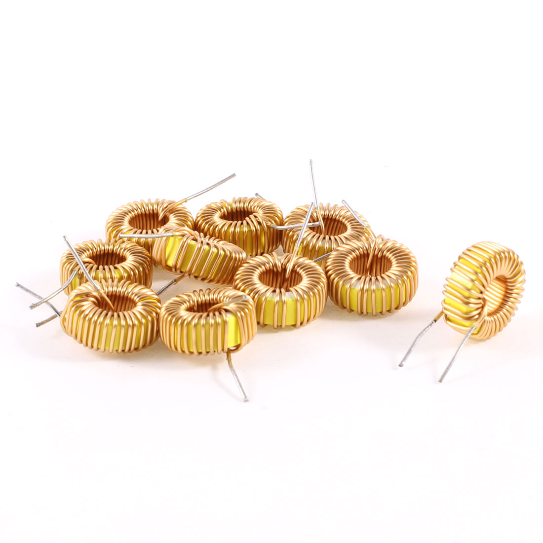 10 Pcs Toroid Core Inductor Wire Wind Wound 47uH 38mOhm 3A Coil