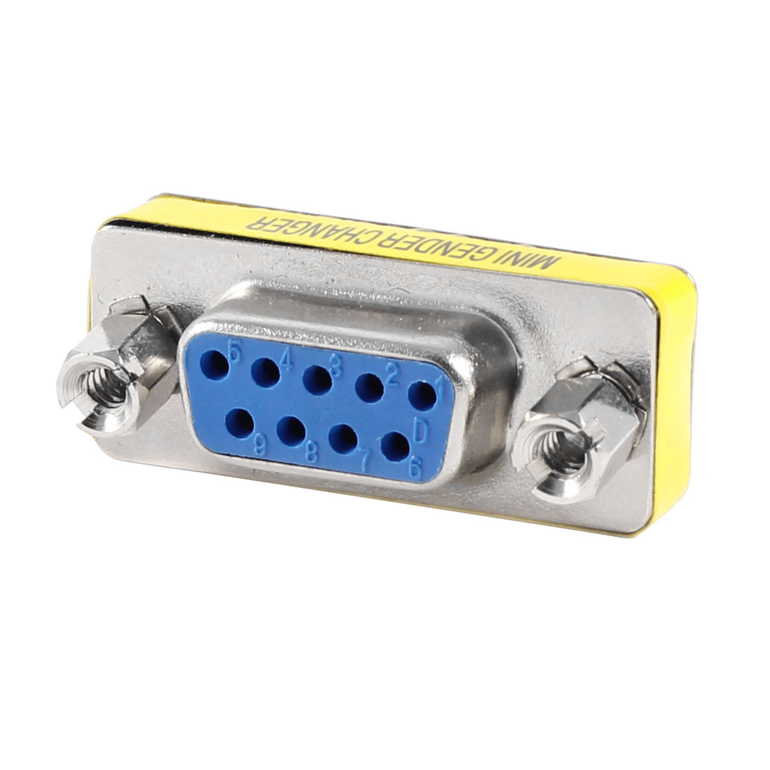 RS-232 DB9 Male to Female Mini Gender Charger Adapter Connector