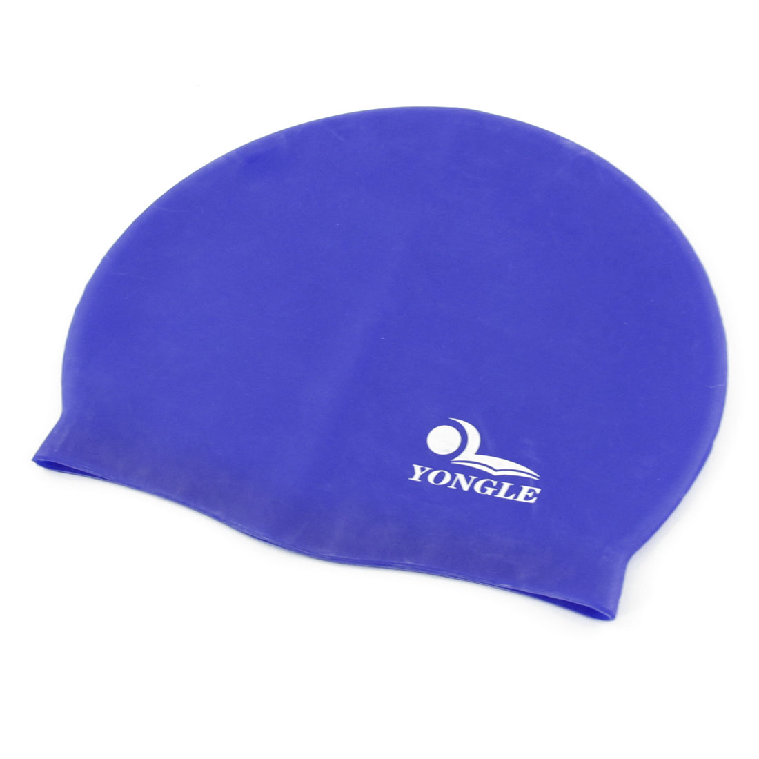 Blue Silicone Skin Stretchy Surfing Swimming Cap Hat for Adults