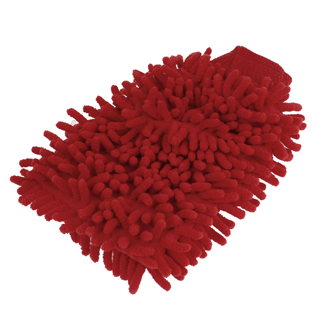 Car Vehicle Cleaning Soft Microfiber Chenille Washing Mitten Glove Red