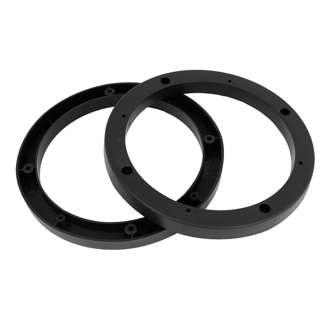 "2 Pcs 7"" Dia Black Plastic Speaker Spacers Extender Ring for Car"