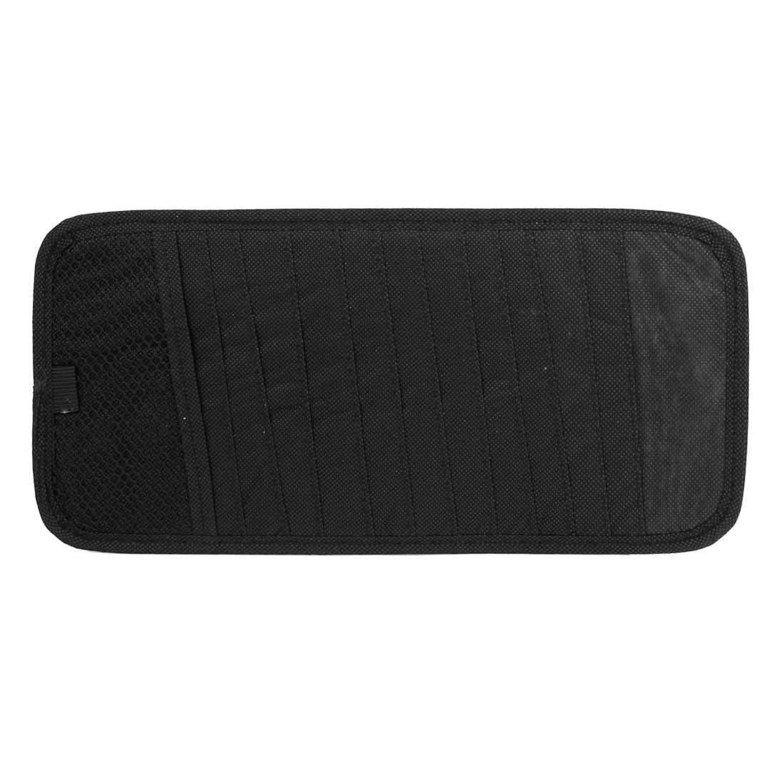 Black Nylon Rectangle 12 Capacity CD Discs Holder Bag for Auto Car