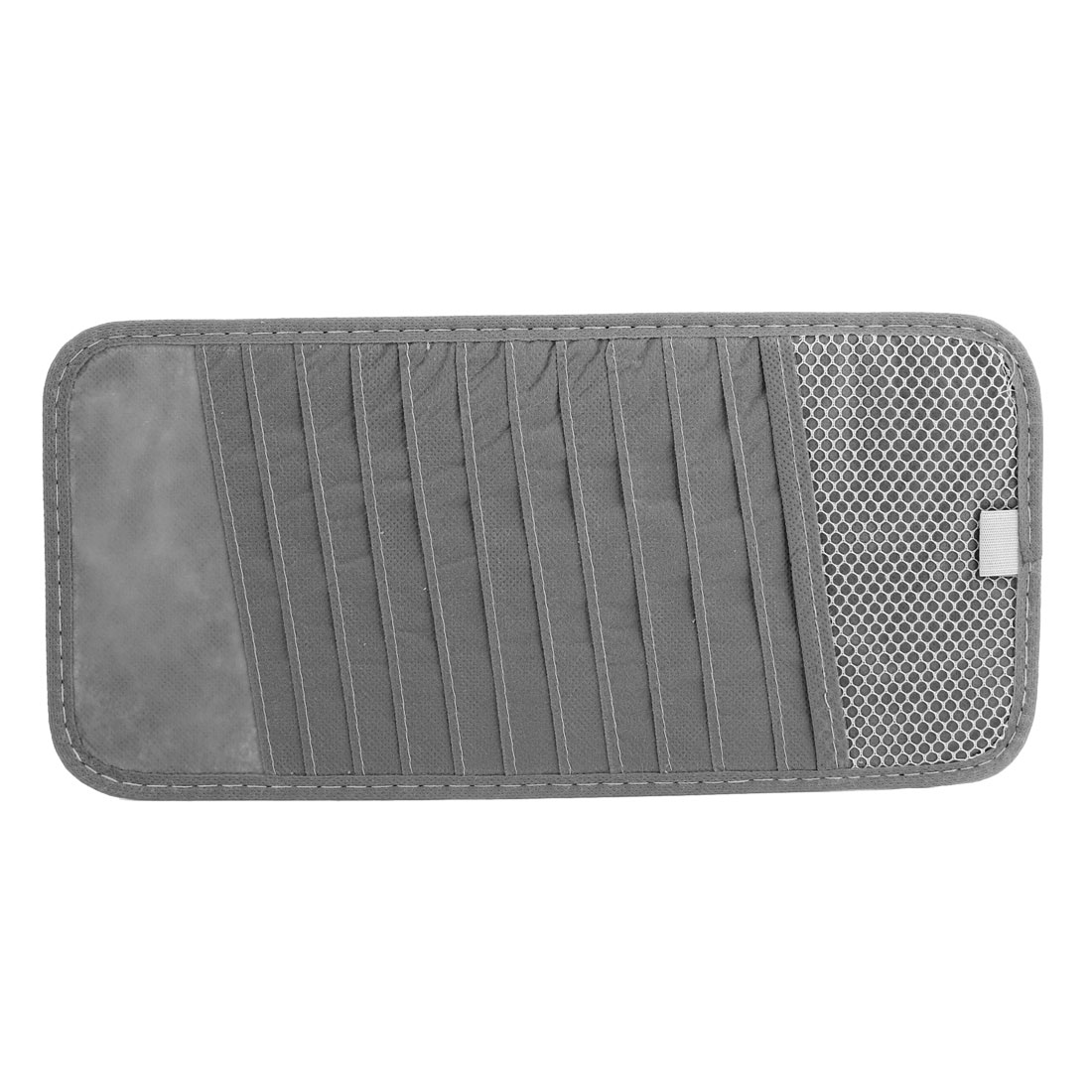 Vehicle Car Sun Visor Gray Non-Woven 12 CD DVD Storage Holder