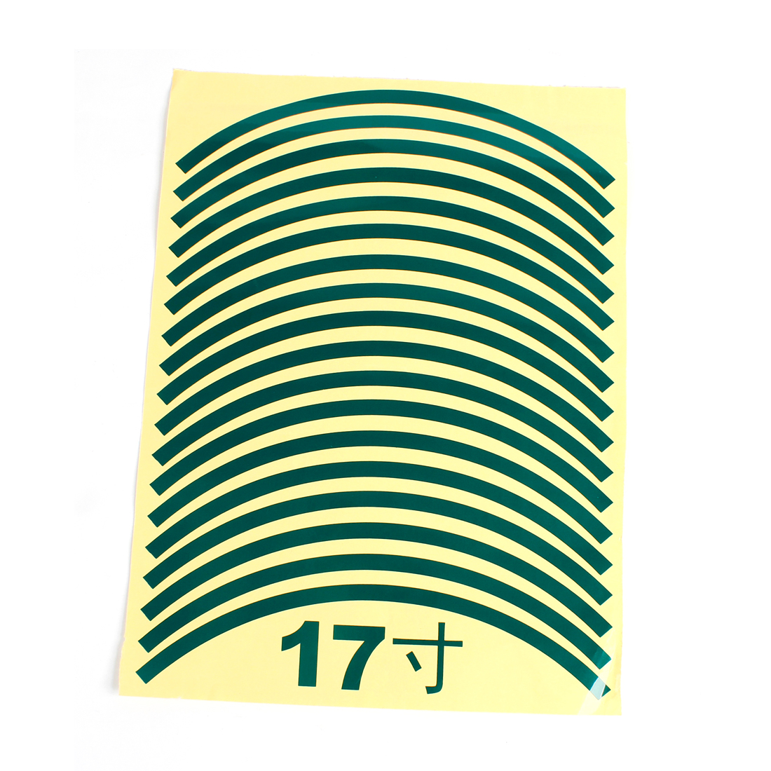 "Vehicle Car 29cm Long Green Wheel Tyre Tire Decal Sticker Stripes 18PCS for 17"" Wheels"