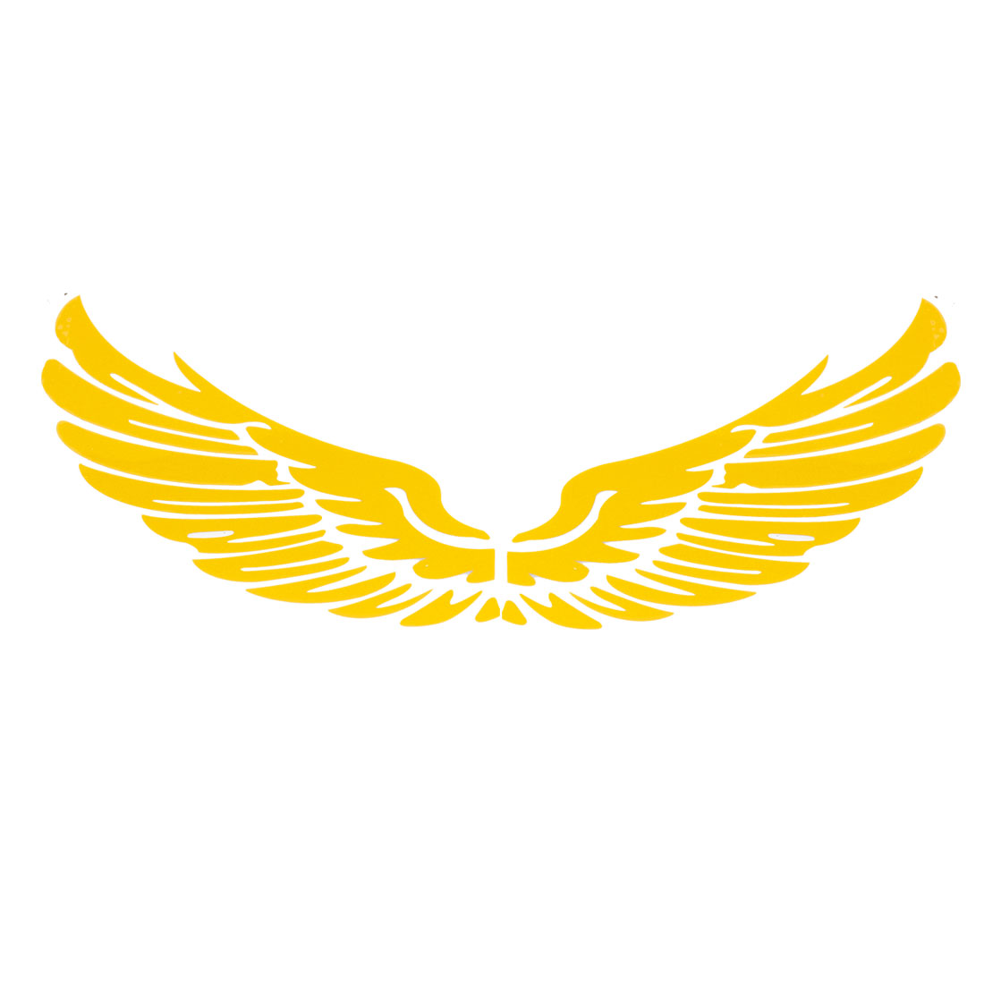 Pair Eagle Wings Shape Yellow Decal Sticker for Van Car Truck
