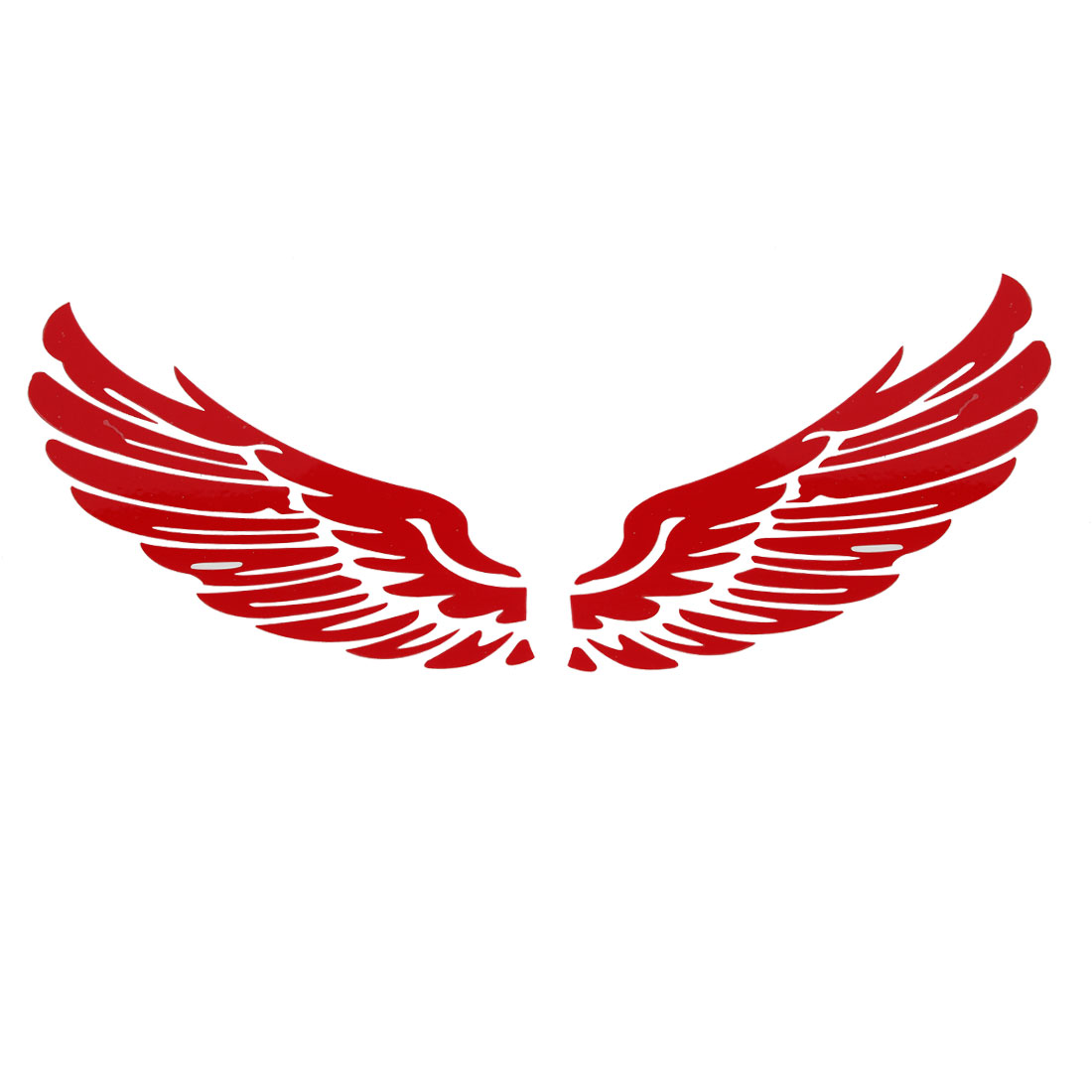 Red Vinly Feather Design Exterior Sticker Decor 2pcs for Car